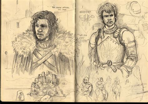 Game Of Thrones Sketches Part 2 By F1x-2 On Deviantart