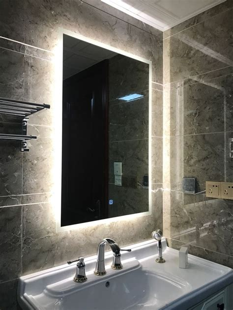 Back Lit Bathroom Mirrors by Box Diffusers Led Backlit Bathroom Mirror Vanity Square