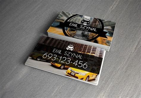 taxi business card templates ai pages word