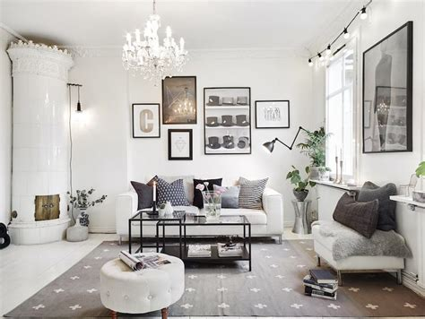 white royal vintage chaise how to design the scandinavian style apartment