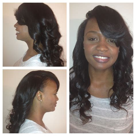 Sewed In Weave Hairstyles by Sew In Minimal Leave Out Side Part Luxe Lengths