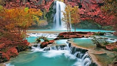 Waterfall 1080p Wallpapers Desktop Autumn Fond Ecran