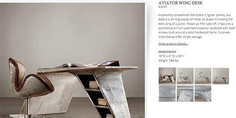aviator wing desk restoration hardware pin by jess childs on lc desks