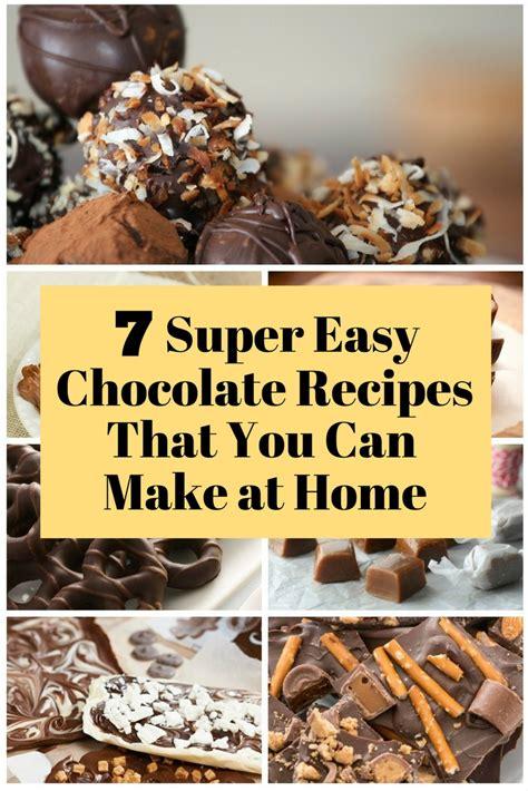 super easy chocolate recipes      home