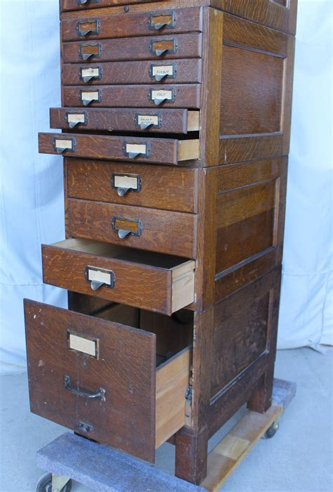 bargain johns antiques oak file cabinet shaw walker
