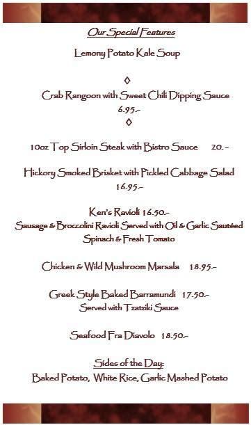 Kitchen And Grill Yulan Ny by Our Dinner Specials Of The Weekend Konrads Kitchen And