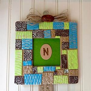 Sculpey Souffle Patchwork Picture Frame