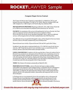 Computer Use Policy Template Computer Service Contract Repair Computer Template