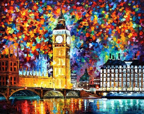 Big Ben London 2012 — Palette Knife Oil Painting On Canvas