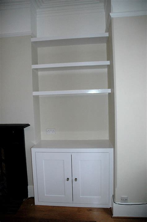 alcove cupboard  floating shelves carpentry joinery