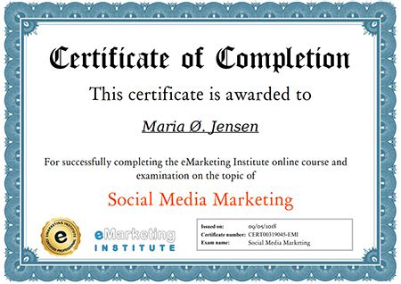 free certificate courses free social media marketing certification course