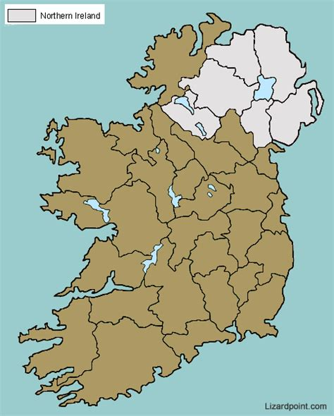test  geography knowledge ireland counties lizard