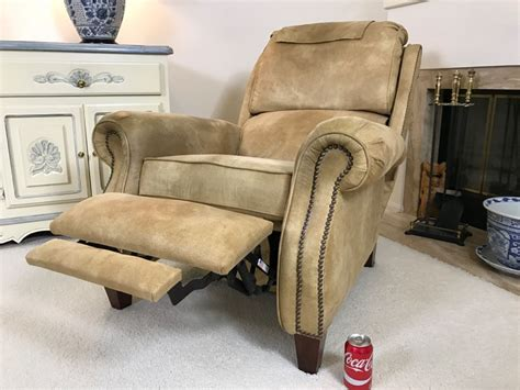 Light Brown Recliner Chair by Light Brown Suede Leather Barcalounger Recliner Chair