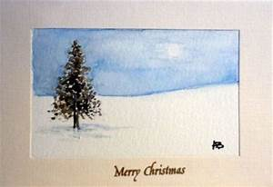 Arts and Crafts Watercolour Christmas Cards Handmade