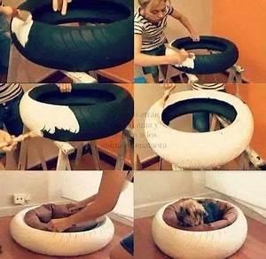 Couffin Pour Chien : recycler pneus couffin pour chien chat pinterest couffin pneu et outils de jardin ~ Melissatoandfro.com Idées de Décoration