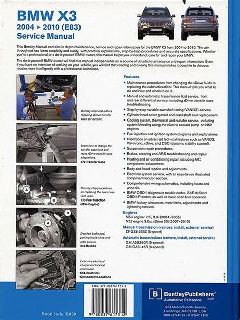 chilton car manuals free download 2010 bmw x3 lane departure warning bmw x3 e83 service repair manual 2004 2010 2 5i 3 0i 3 0si xdrive