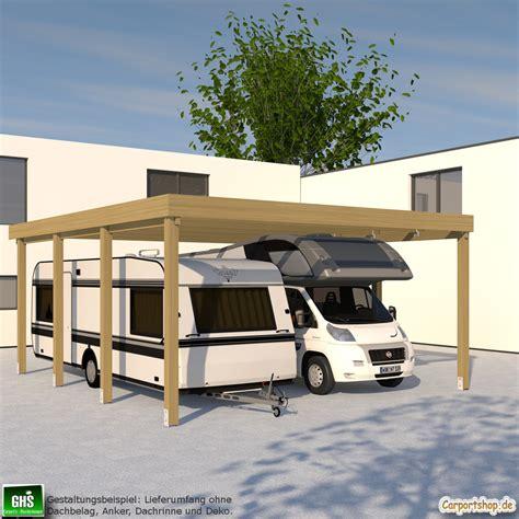 Caravancarport, Grundkonstruktion 6x7  Typ 280 (ohne