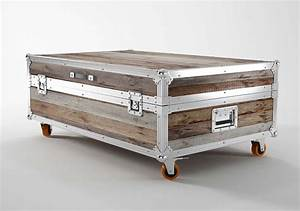 steamer trunk coffee table stainless steel rascalartsnyc With stainless steel trunk coffee table