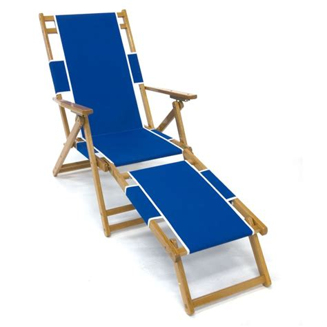 Camp Chair With Footrest by Frankford Amp Sons Oak Wood Folding Beach Chair
