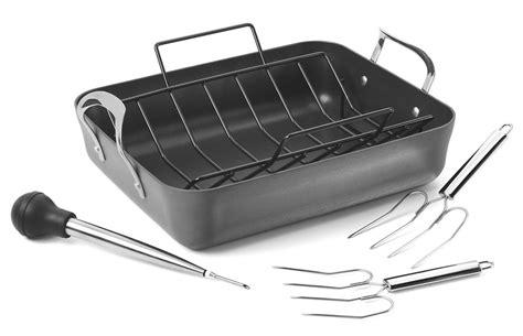 calphalon contemporary nonstick roasting pan set  cutlery
