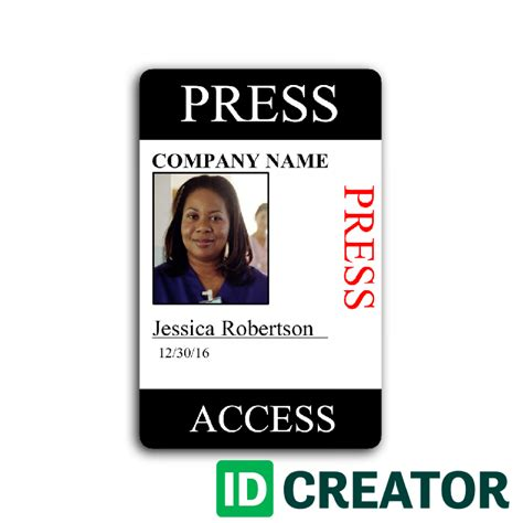 Media Pass Template by Blank Press Pass Template Www Imgkid The Image Kid