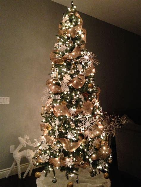 decorated christmas trees pictures  burlap burlap