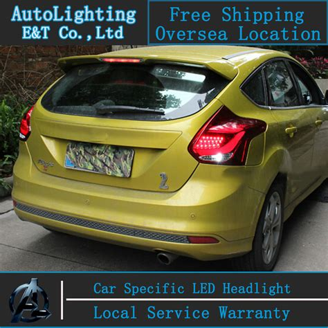 auto lighting style led tail l for ford focus hatchback