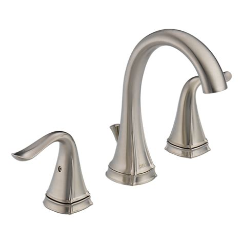 delta celice tub faucet 35705lf ss eco two handle widespread lavatory faucet