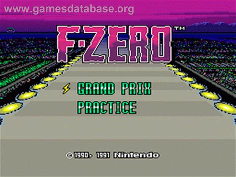 F Zero Nintendo Snes Games Database