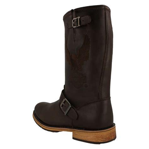 biker boots men mens harley davidson biker boots 39 clint 39 ebay