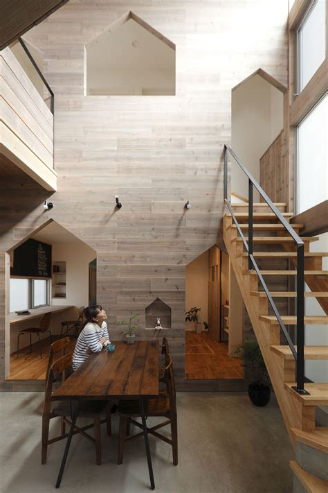 small modern house  kyoto  wood interiors
