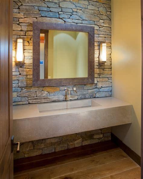 lakeshore mansion custom concrete vanity  integral