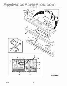 Parts For Frigidaire Fpcs3085lfa  Backguard Parts