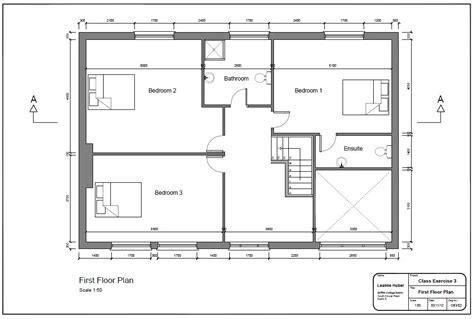 Bedroom Floor Exercises by 2d Cad L E A N N E H U B E R