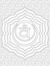 Coloring Chakra Sacral Chakras Symbols Yoga Colouring Printable Adult Sheets Spiritual Template Getdrawings Getcolorings sketch template