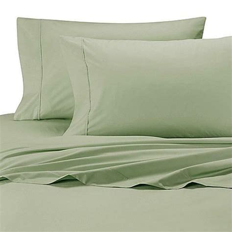new wamsutta 174 cool touch percale cotton queen flat sheet in green ebay