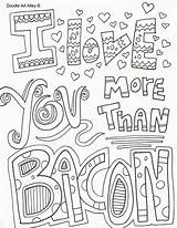 Coloring Pages Doodle Valentines Printable Valentine Colouring Adult Alley Bacon Quotes Sheets Quote Than Adults Inspirational Stuff Doodles Books Spring sketch template