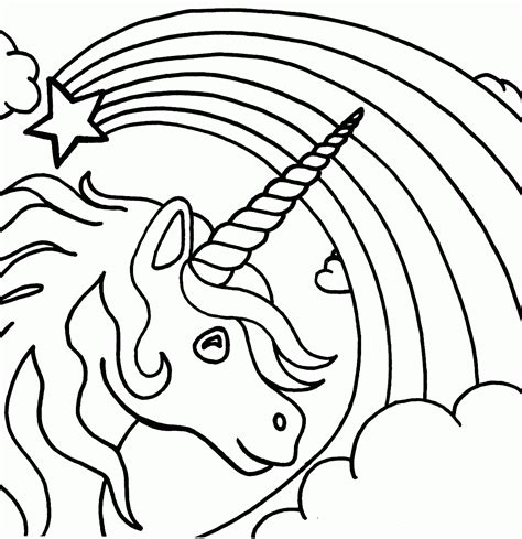 Rainbow Colours Coloring Page Coloring Home