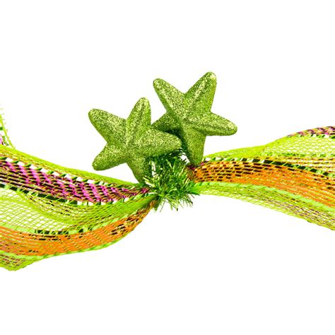 6 quot lime green tinsel ties w stars lime green set of 12