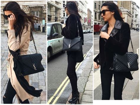 ysl monogram college quilted leather satchel  blogger