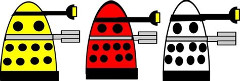 Dalek Free Vector In Open Office Drawing Svg ( .svg