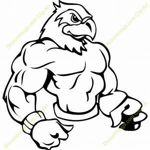 Image Gallery hawk mascot clip art