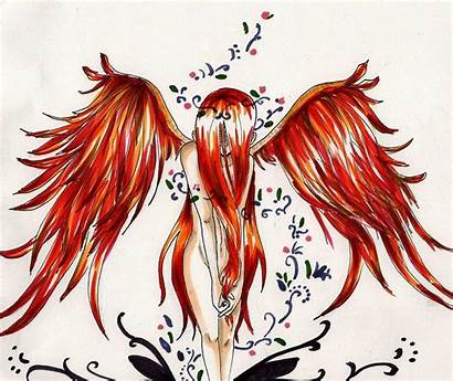 Wings Phoenix Fire Angelic Deviantart Angel Tattoo