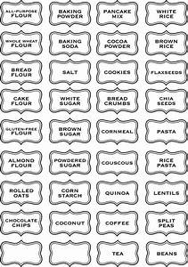 jar labels tags 5quotx3quot to help organize your pantry vinyl With kitchen cabinets lowes with sticker template free