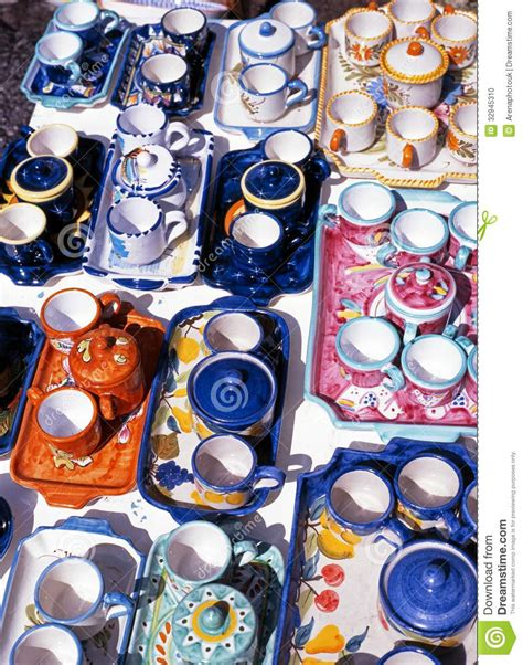 amalfi coast ceramics italian travel italian pottery ravello italy stock photo image 32945310