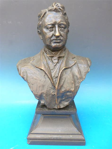 A bronze bust of Sir Cecil Rhodes by Elkington & Co. With ...