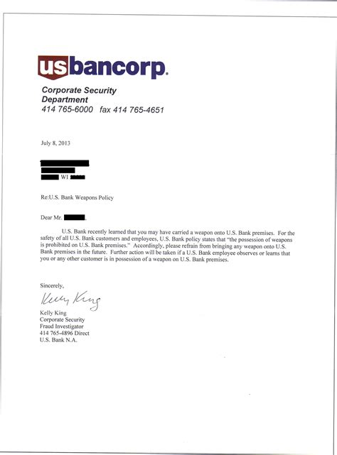 bank corp tells customers  concealed carry   banks