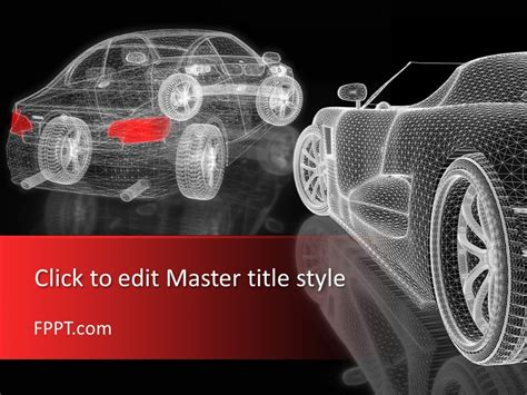 Free 3d Car Mesh Powerpoint Template
