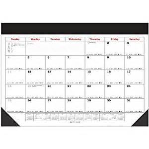 amazon com 2015 large desk pad blotter scheduling