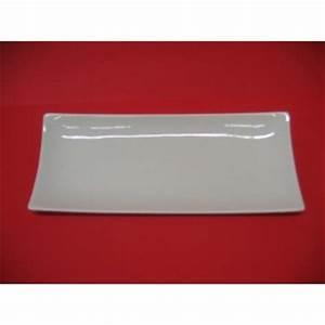 Assiette Rectangulaire Blanche : assiette ou plat rectangulaire design en porcelaine blanche centre vaisselle sarl la ~ Teatrodelosmanantiales.com Idées de Décoration